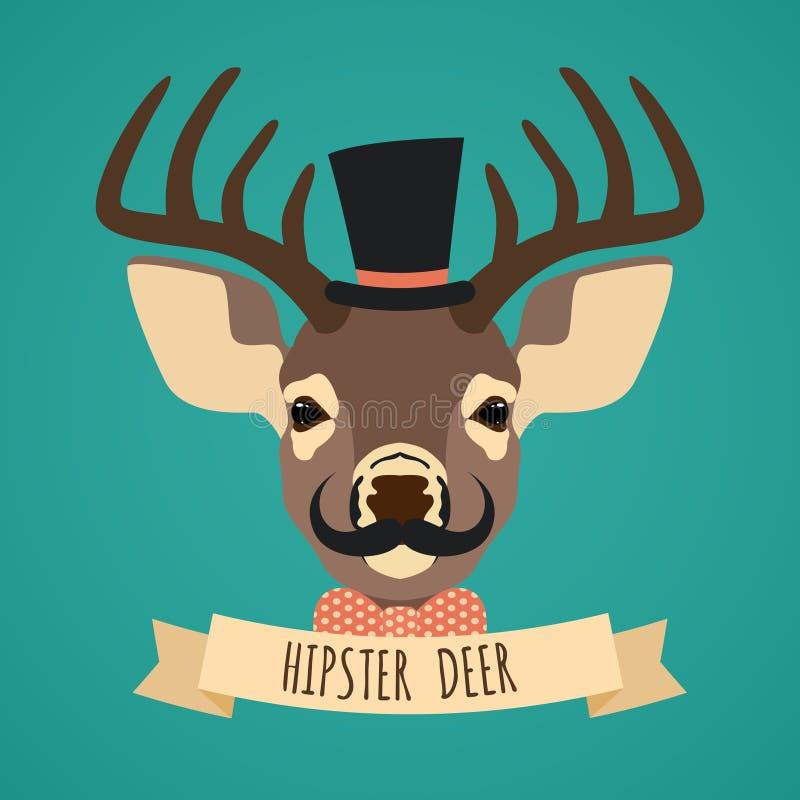 Djur hipsterstående stock illustrationer