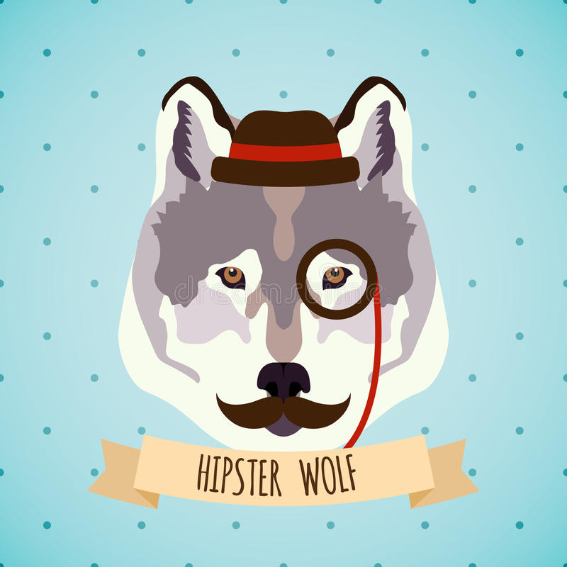Djur hipsterstående vektor illustrationer