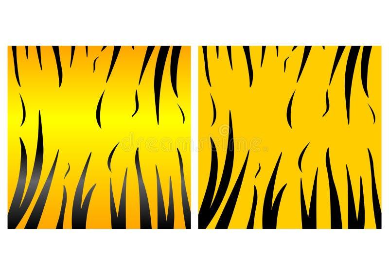 djur hudtiger royaltyfri illustrationer
