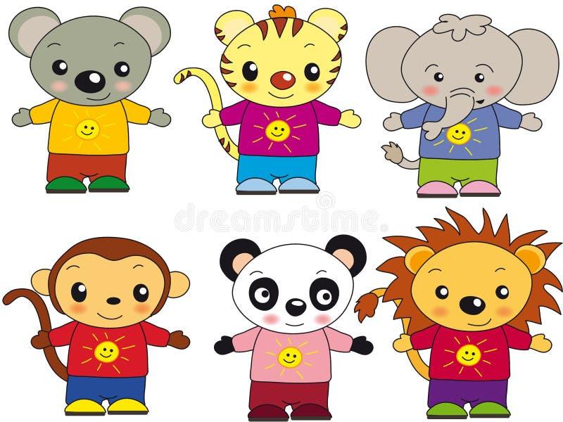 djur illustration stock illustrationer