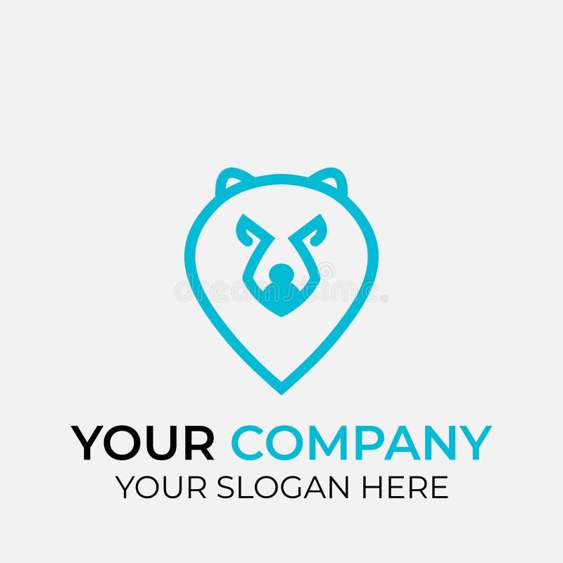djur logodesign stock illustrationer