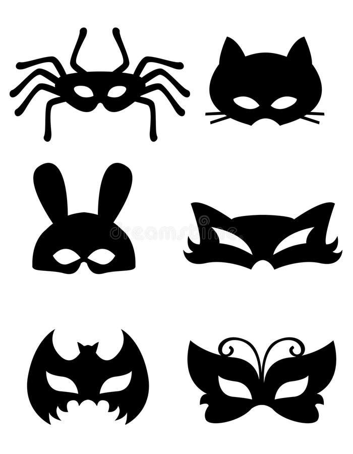 djur maskering stock illustrationer