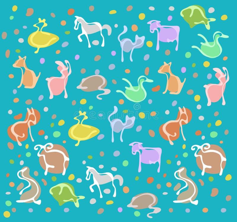 djur modell royaltyfri illustrationer