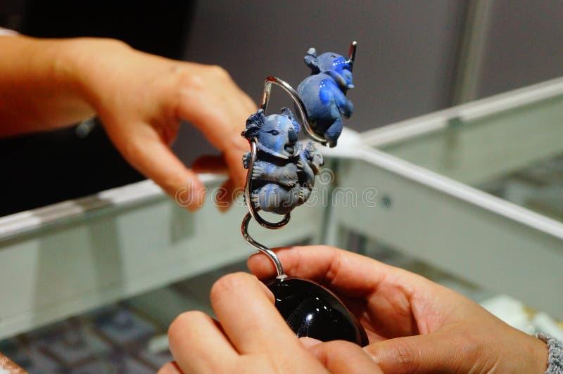 Djur modell för jade royaltyfria bilder