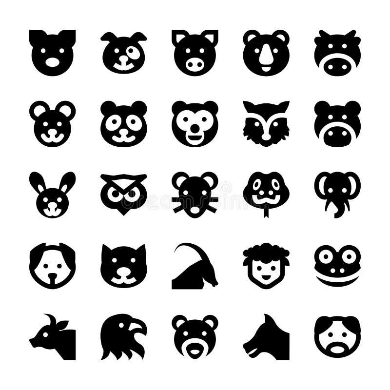 Djur- och fågelvektorsymboler 1 vektor illustrationer