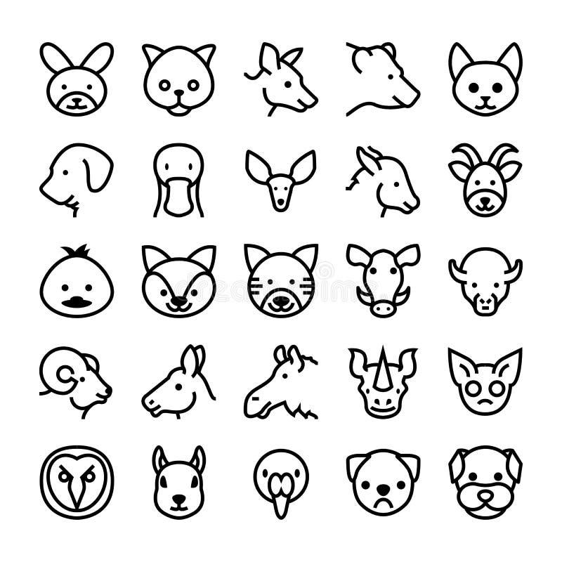 Djur- och fågelvektorsymboler 8 stock illustrationer
