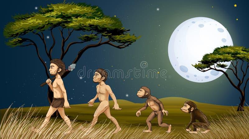 Djur och människor stock illustrationer