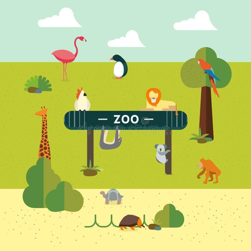 Djur och zoo vektor illustrationer