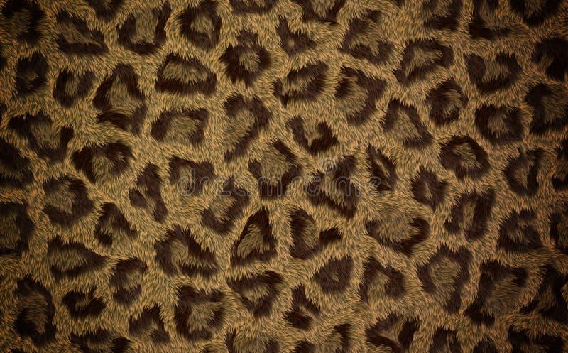 Djur pälstextur för sömlös leopard för bakgrund vektor illustrationer