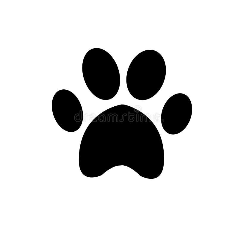 Djur pawprintsymbol som isoleras på vit bakgrund vektor illustrationer