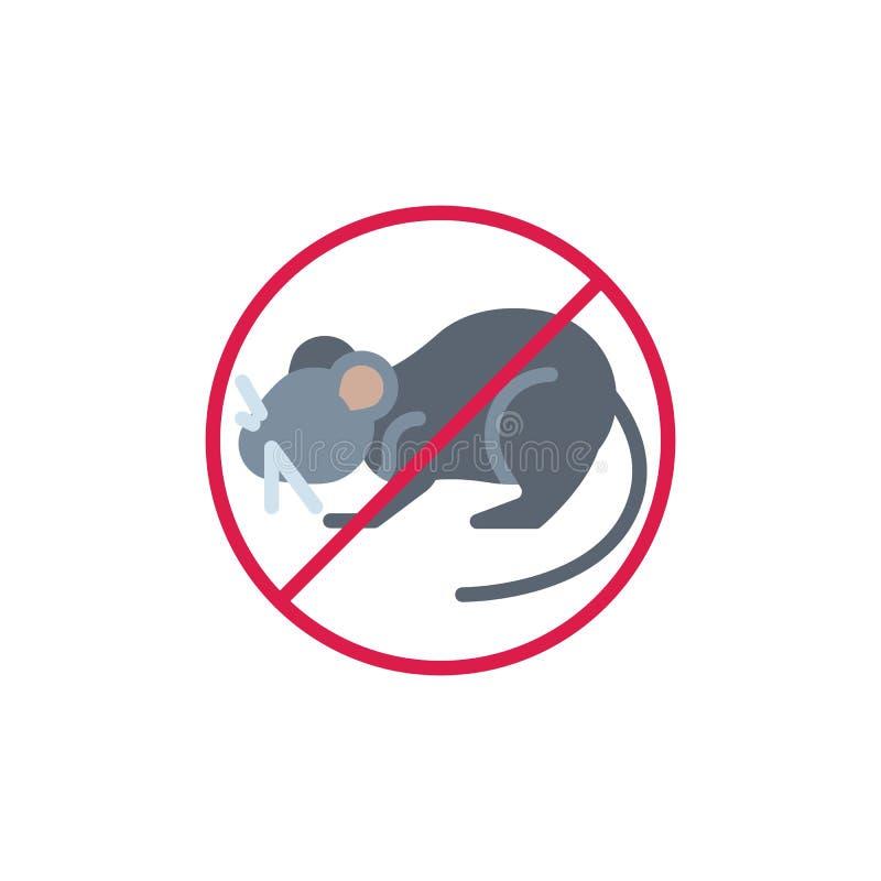 Djur plan symbol för stoppmus vektor illustrationer