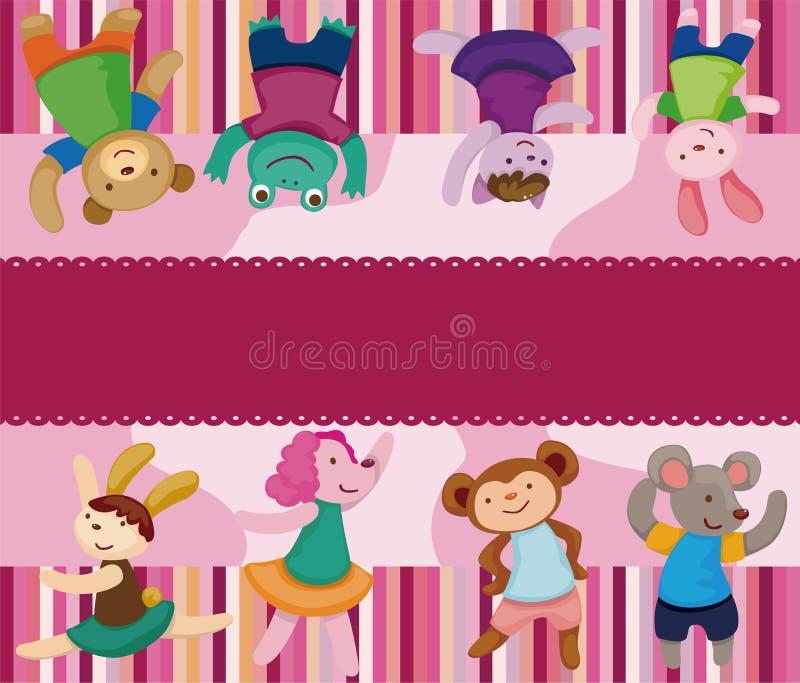 djur seamless tecknad filmdansaremodell royaltyfri illustrationer