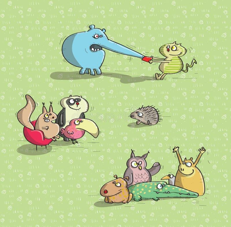 Djur som har gyckel No.2 royaltyfri illustrationer