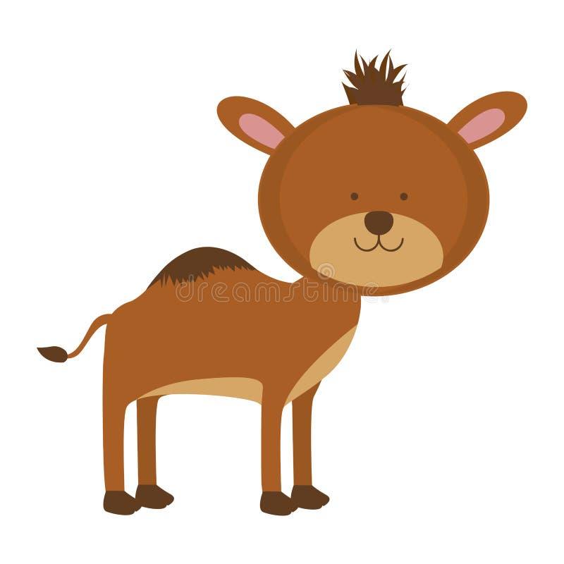 Djur symbolsbild för kamel stock illustrationer