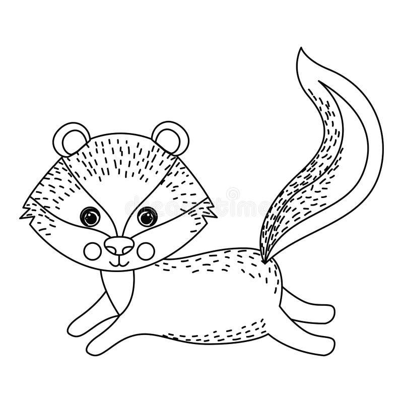Djur tecknad filmdesign för ekorre royaltyfri illustrationer