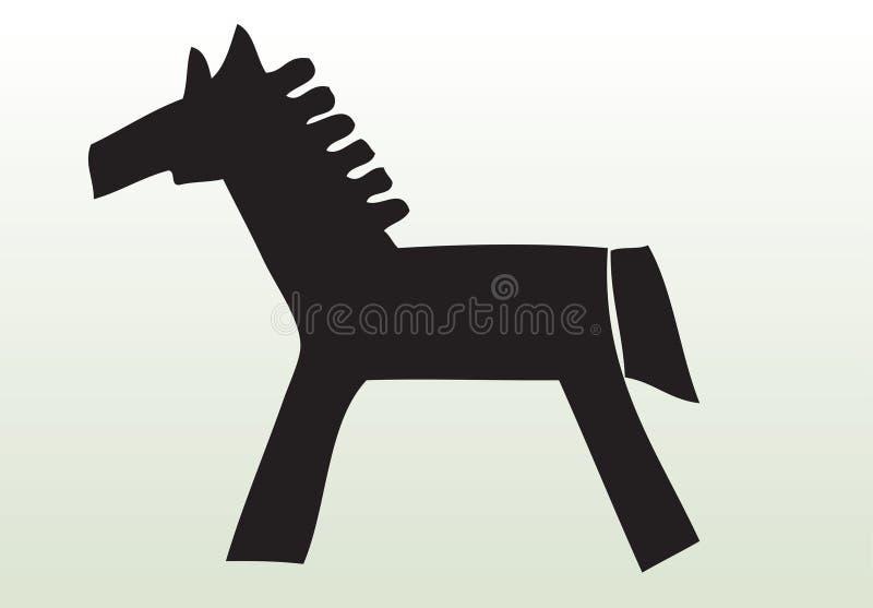 djur tecknad handhäst royaltyfri illustrationer