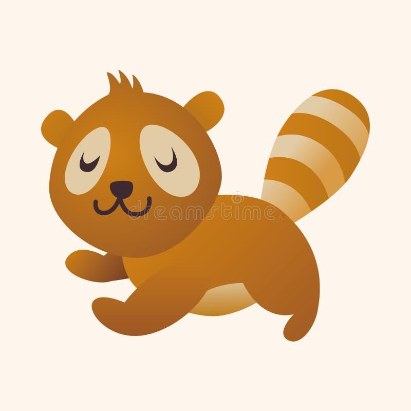 Djura beståndsdelar för tvättbjörnlägenhetsymbol, eps10 vektor illustrationer