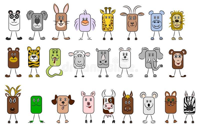 djura illustrationer royaltyfri illustrationer