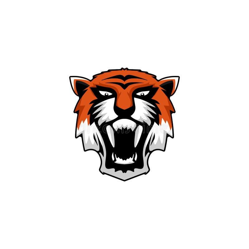 Djura logoinspirationer för tiger, djurliv royaltyfri illustrationer