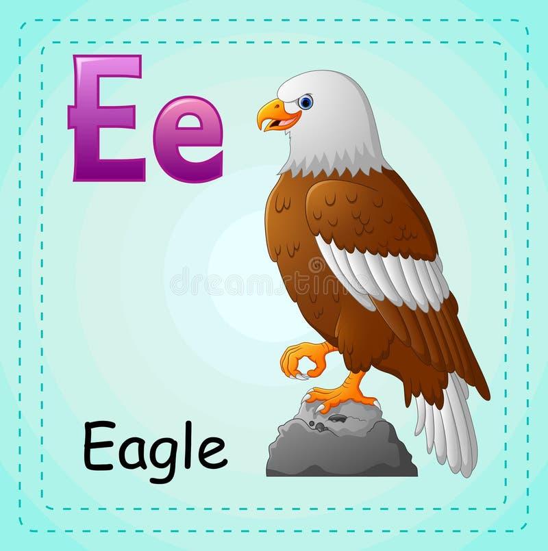 Djuralfabet: E är för Eagle royaltyfri illustrationer