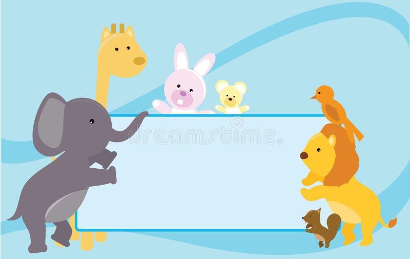 djurbaner vektor illustrationer