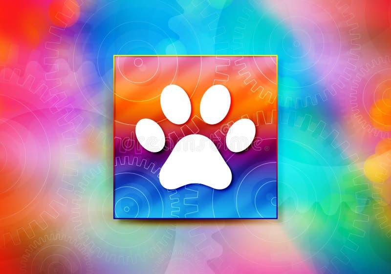 Djuret tafsar illustrationen för designen för bokeh för bakgrund för trycksymbolsabstrakt begrepp den färgrika stock illustrationer