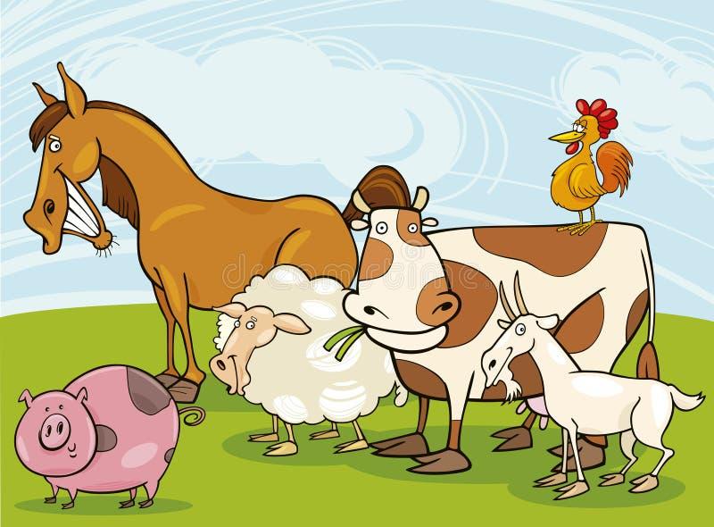 djurlantgård stock illustrationer