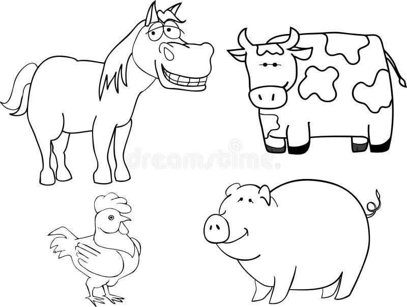 djurlantgård royaltyfri illustrationer