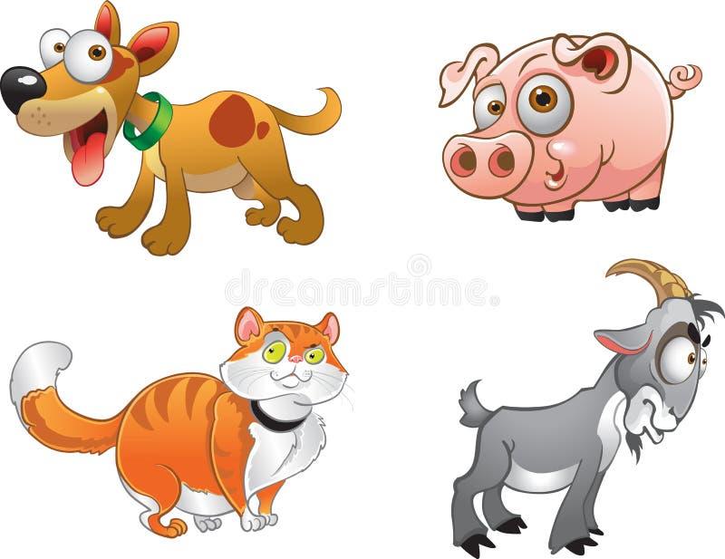 djurlantgårdgyckel några stock illustrationer