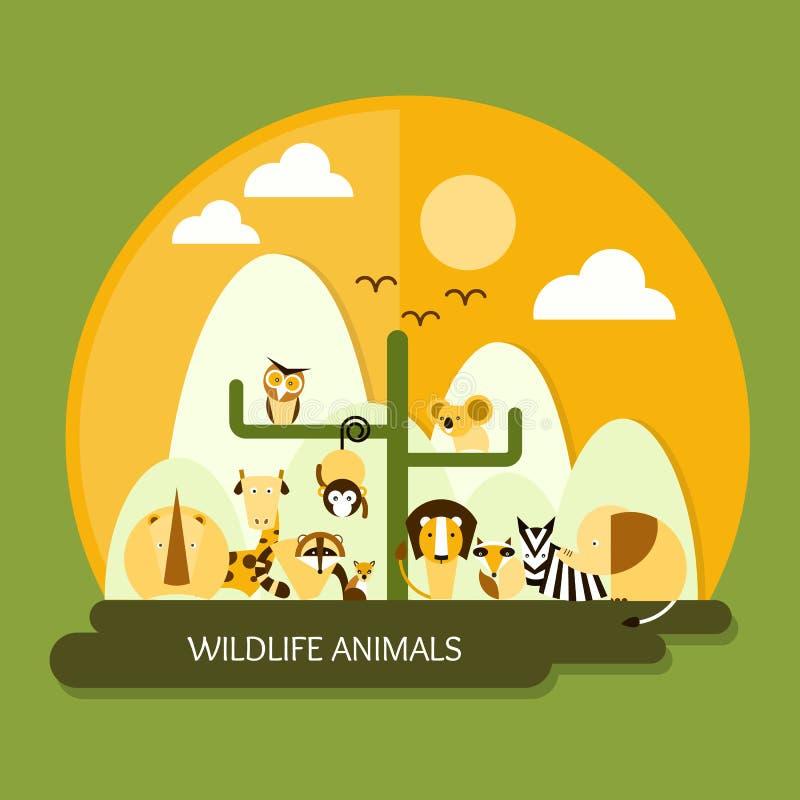 Djurlivdjur vektor illustrationer