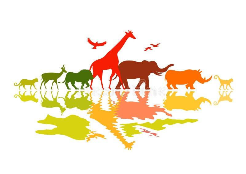 Djurlivsafari royaltyfri illustrationer