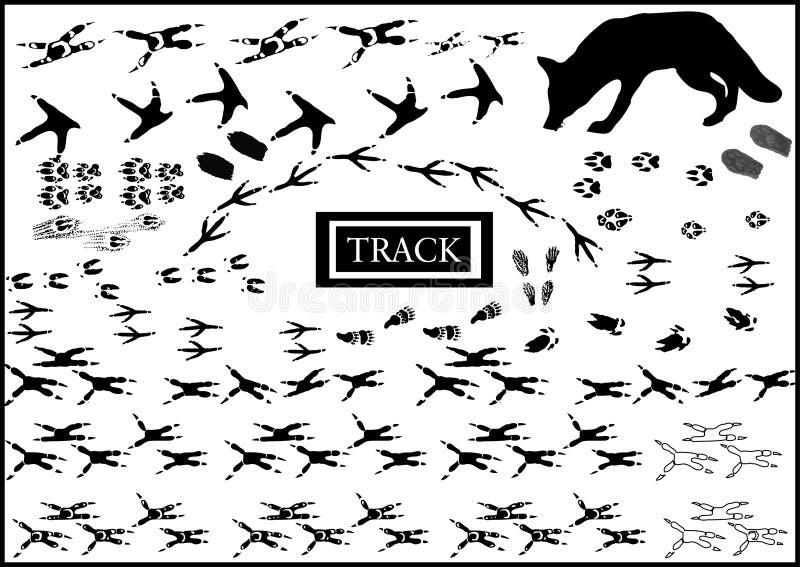 djurlotttryck stock illustrationer