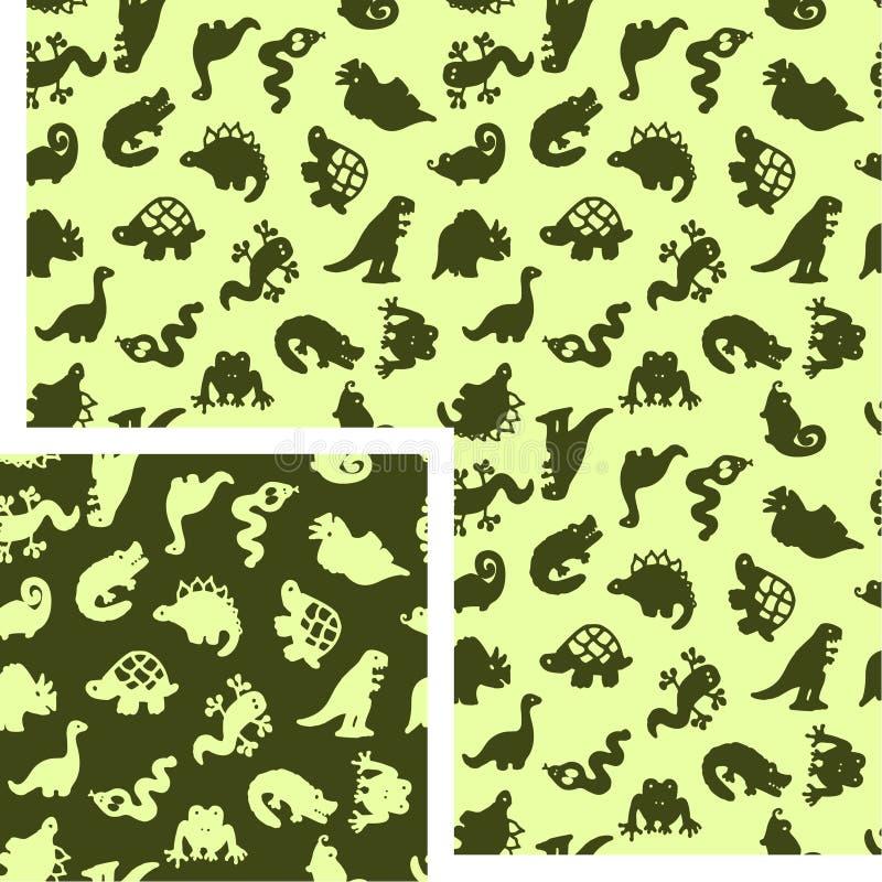 djurreptilar stock illustrationer