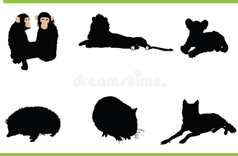 djursamlingsvektor royaltyfri illustrationer