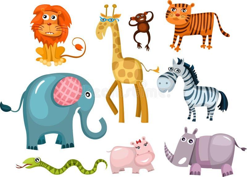 djurset vektor illustrationer