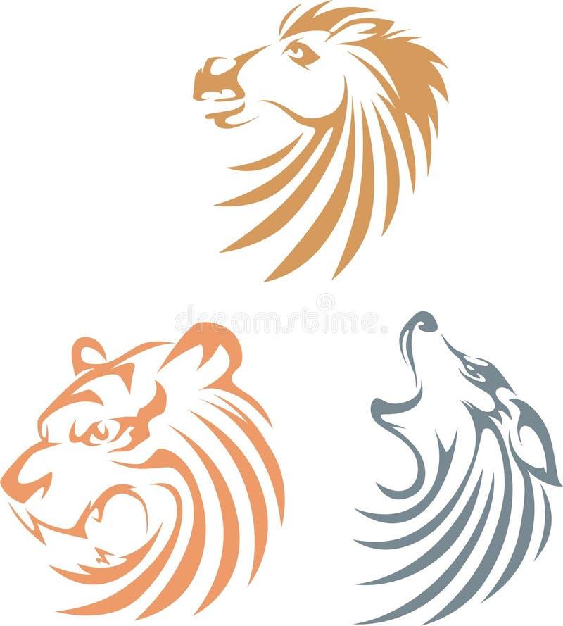 djurstilswish royaltyfri illustrationer