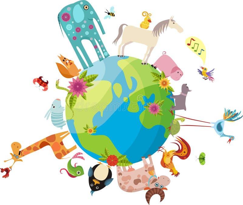 djurt planet stock illustrationer