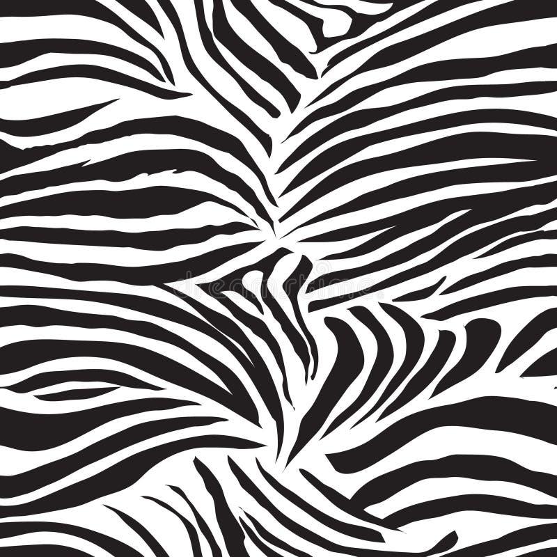 Djurt sömlöst vektortryck för svartvit sebra royaltyfri illustrationer