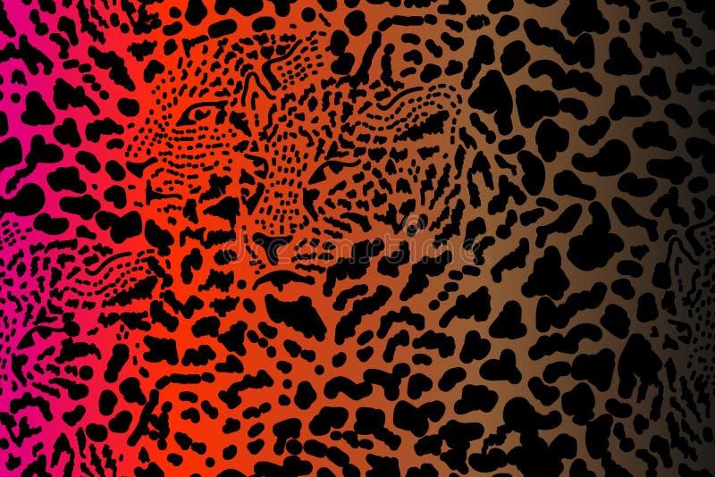 Djurt tryck för sömlös vektor royaltyfri illustrationer