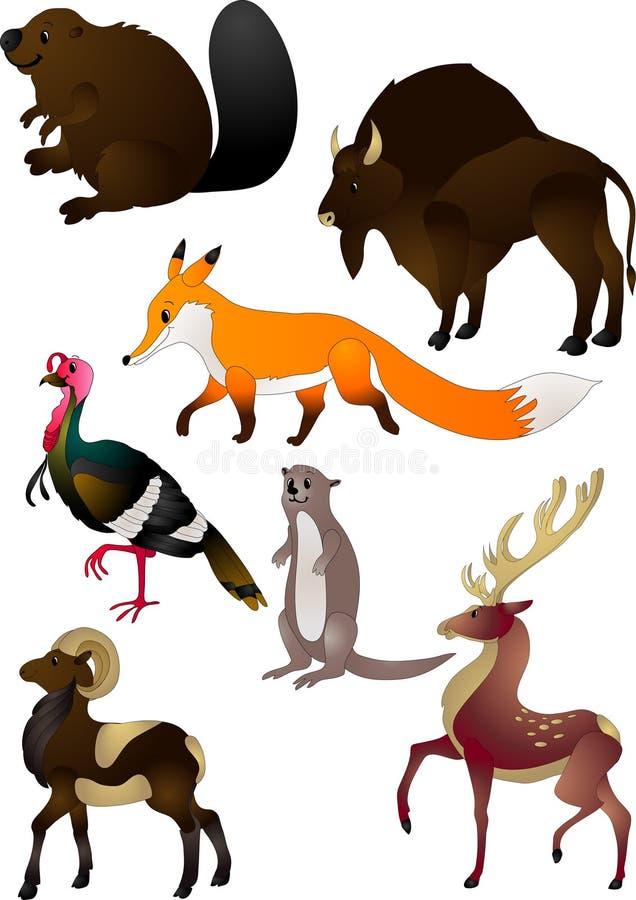 djurtecknad filmvektor stock illustrationer