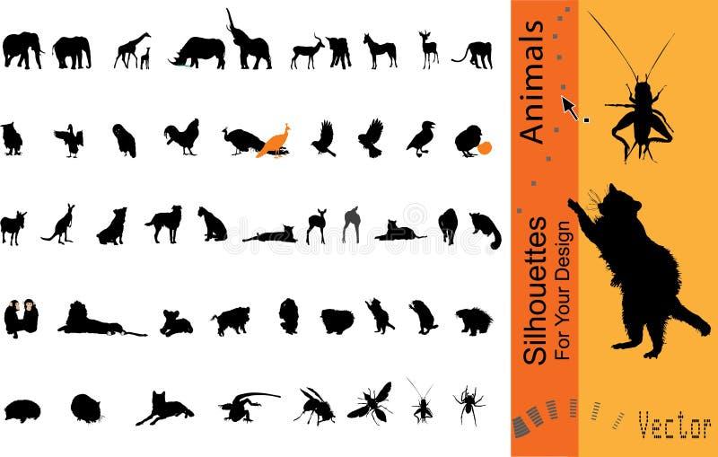 djurvektor royaltyfri illustrationer