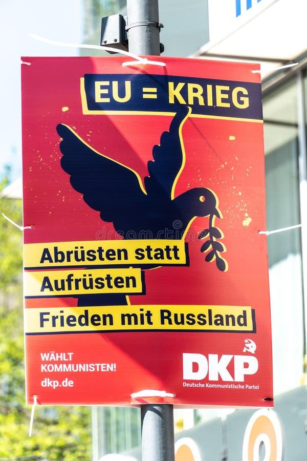 DKP-politisk kampanjaffisch arkivfoton
