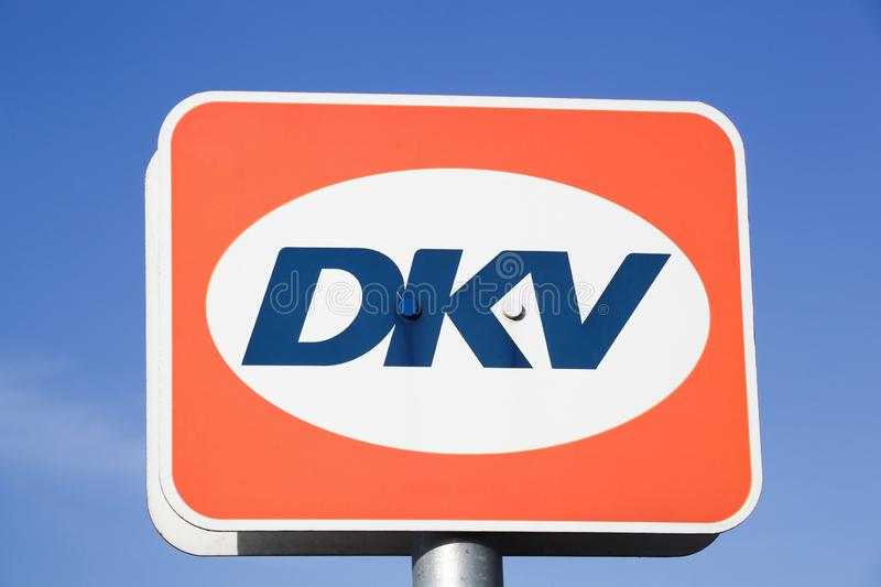 DKV logo on a panel royalty free stock image