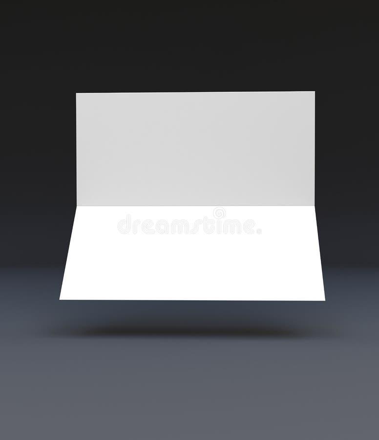 DL两褶的传单大模型, DL小册子 库存例证