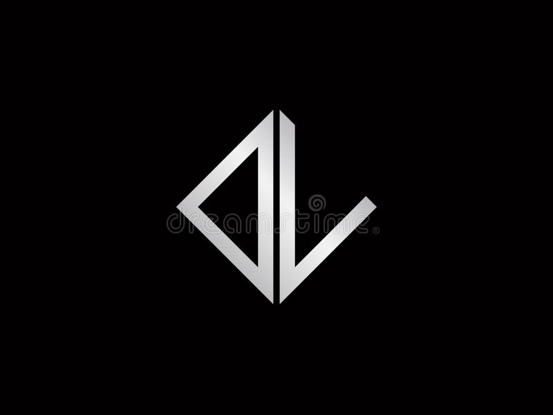Dl Square Shape Silver Color Logo Stock Vector Illustration Of Business Vector 138800502