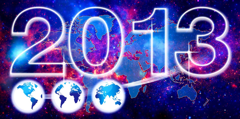 Dla 2013 światowy tło ilustracji