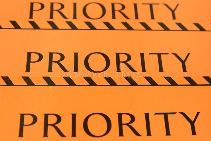 Dla bagażu etykietka priorytet obraz royalty free