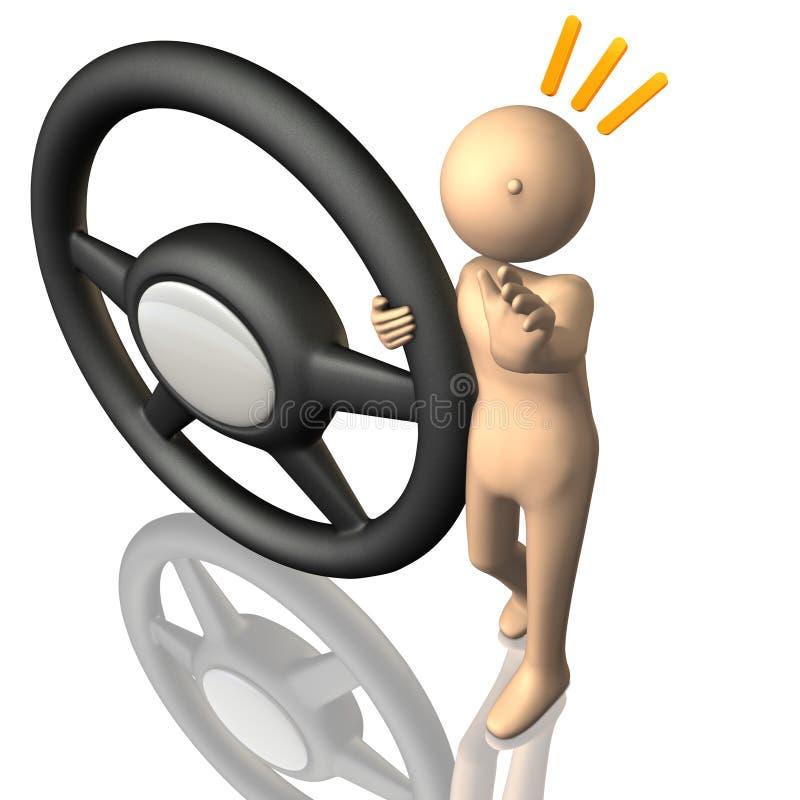 Dla bezpiecznego jeżdżenia kierowców wezwania. ilustracja wektor
