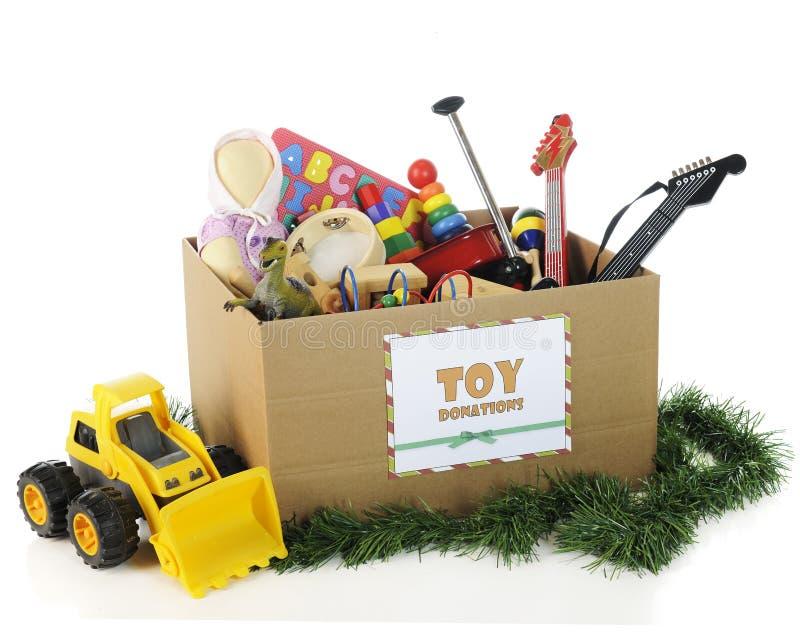 Dla Bożych Narodzeń dobroczynność Zabawki fotografia stock