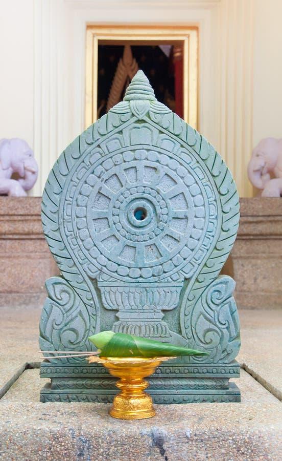 Dla cześć skomplikowany biały lotos Buddha zdjęcia stock